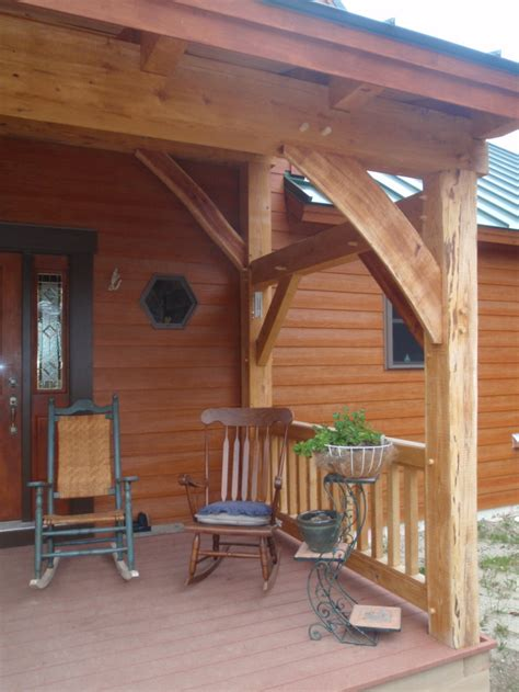 Pictures Of Porch by Custom Timber Frame Entry Porch Construction Turner Maine