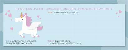 Invitation Birthday Rainbow Evite Unicorn Invitations Party