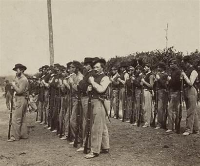 Civil War Union Soldiers Drilling Infantry Illinois