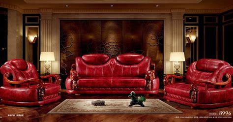 sofa  sale red leather sofa set