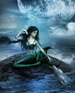 Mermaid And Dolphin by gigimoshik on DeviantArt