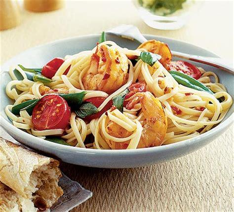 chilli prawn linguine bbc good food