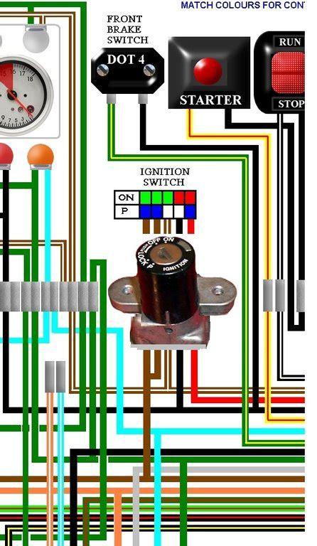 honda cb400 4 cb400f four uk spec colour wiring loom diagram