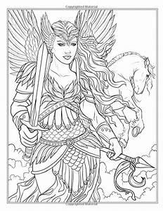 Goddess And Mythology Coloring Book Fantasy