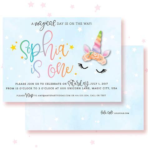 unicorn birthday invitations amys party ideas