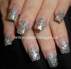 Chunky Silver Glitter Mix u0026 Mirror Mylar - Nail Art Gallery