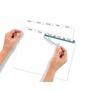 averyr index makerr clear label dividers 11446 white With avery 11446