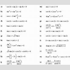 Simple Trig Equations Worksheet Answers Tessshebaylo