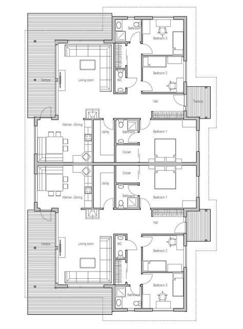 simple  bedroom semi detached house plans psoriasisgurucom