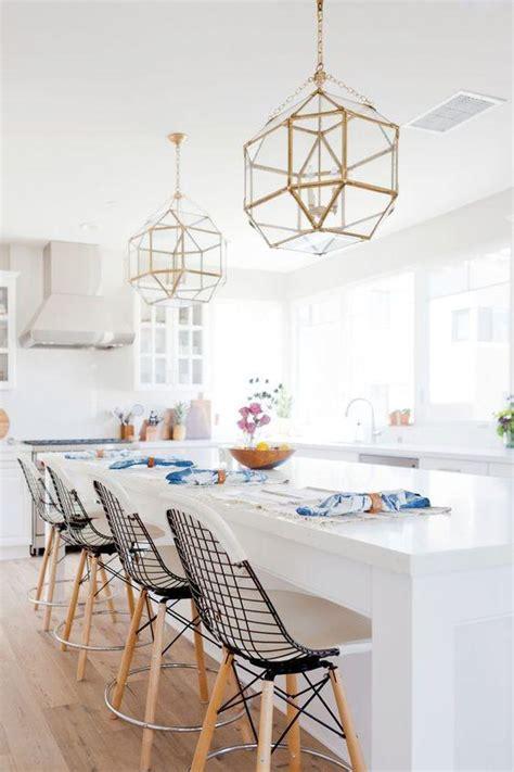 brass pendant lights   kitchen greige