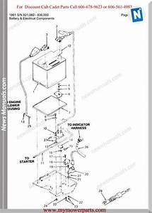 Cub Cadet Parts Manual For Model 1861 Sn 821060 836000