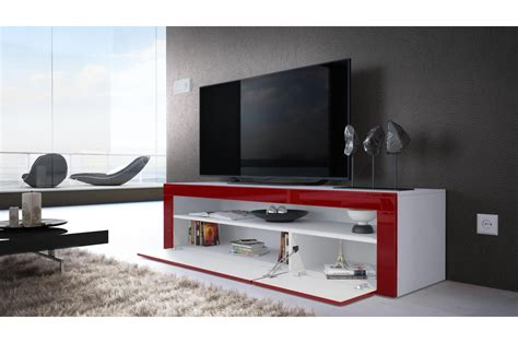 meuble bas tv blanc laque maison design homedian