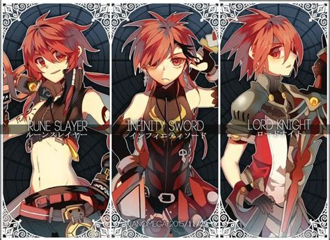 elsword anime character the most played classes of every character elsword amino