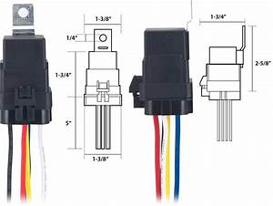 Mini 5 Pin Automotive Relay Socket Integrated   Four