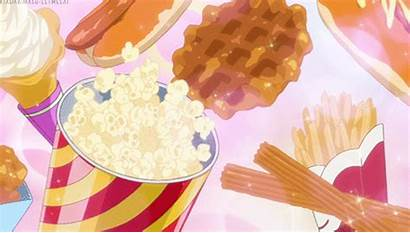 Snack Anime Waffles Afternoon Dog Popcorn Gifs