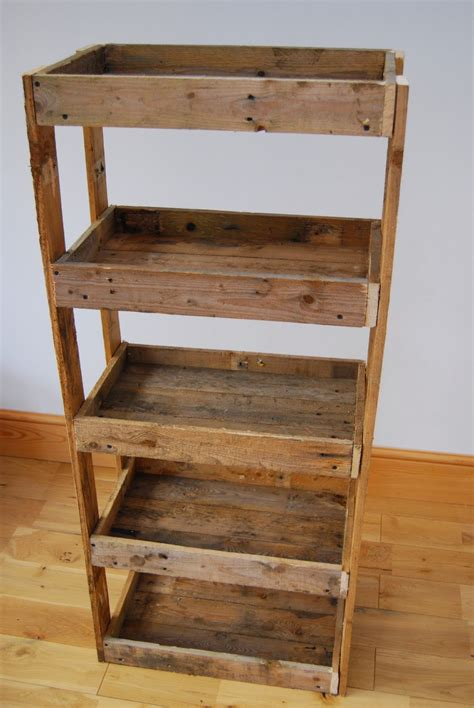 Pallet Wood Shelving Unit Brick Dust Glitter
