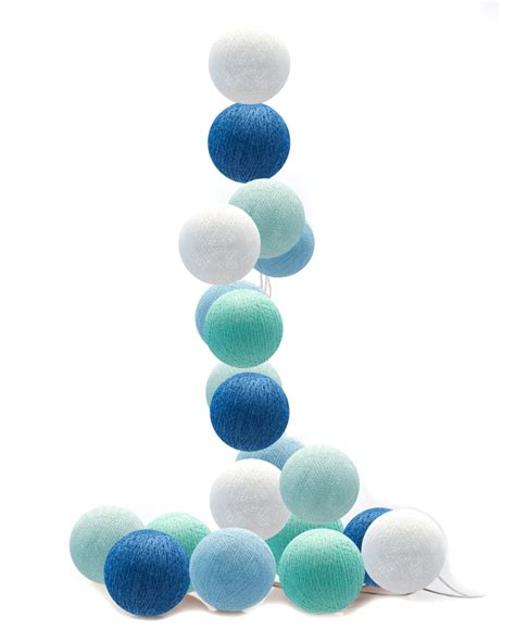 Lichterkette Cotton by Moods Led Lichterkette Cotton Balls Blau Mint Wei 223