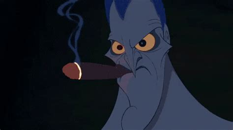 smoking  cigar instantly hercules  disney cartoon