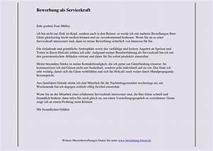 Bewerbung Als Servicekraft : gute bewerbung schreiben muster lebenslauf beispiel ~ Watch28wear.com Haus und Dekorationen