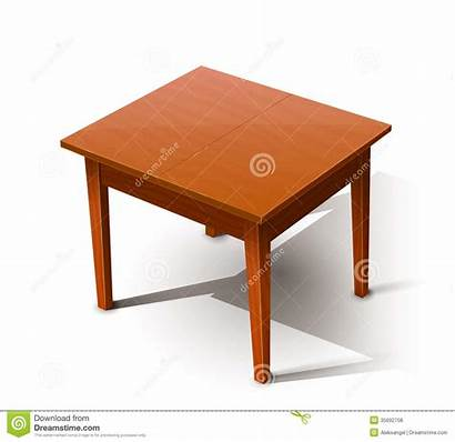 Table Wooden Objects Vector Illustration Background Drawing