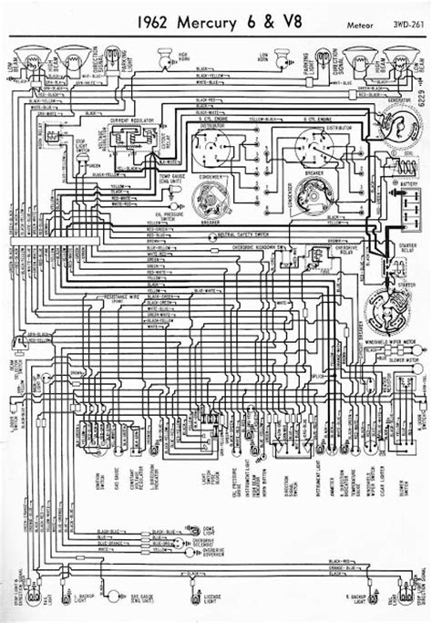 1962 mercury 6 and v8 meteor wiring diagram coll circuit