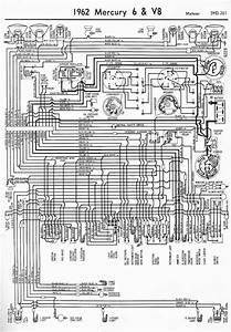 1962 Mercury 6 And V8 Meteor Wiring Diagram