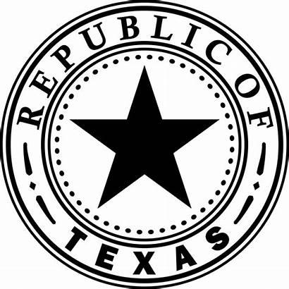 Texas State Republic Seal Symbols Svg 1836