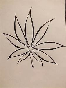 Tattoodesign - Weed plant by Vlinderen on DeviantArt