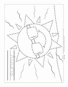 Weather Tracing Worksheets - Itsy Bitsy Fun  Tracing