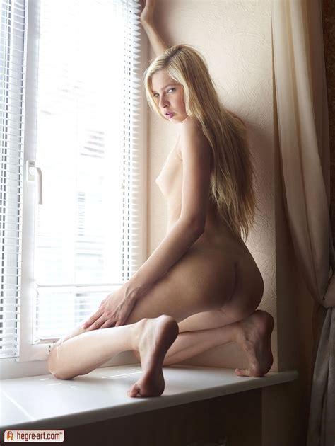 Nude Blonde Monroe Shows Her Ass By The Window Nextdoor Mania