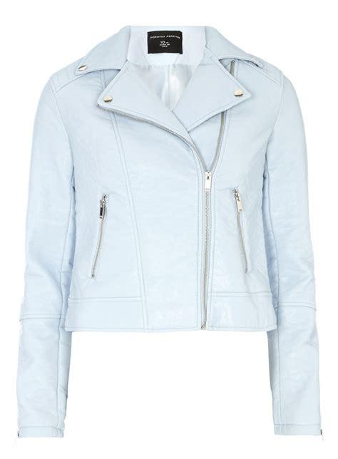light blue leather jacket womens light blue faux leather biker jacket coats jackets