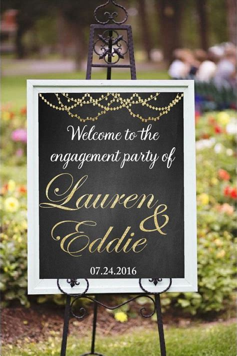 engagement party decor diy printable welcome to the