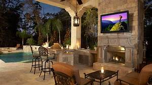 setting up the best outdoor television experience in your With outdoor lighting system with built in speakers for decks and patios
