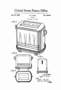 Toaster Patent Print  U2013 Kitchen Decor  Restaurant Decor