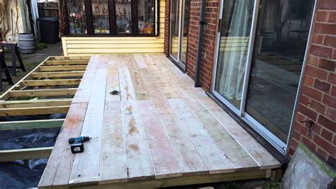 maintenance complete reclaimed scaffold board decking