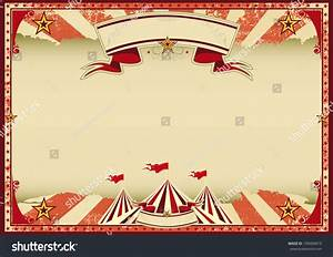 Horizontal Red Circus Retro Red Vintage Stock Vector ...