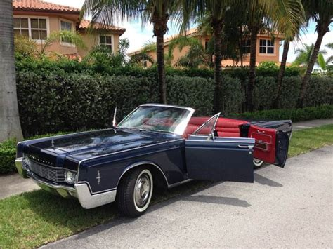 Of Miami Car Rental Drop by Rent Lincoln Continental Convertible Miami Picture Cars