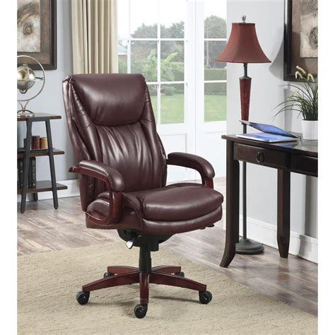 la z boy edmonton coffee brown bonded leather executive