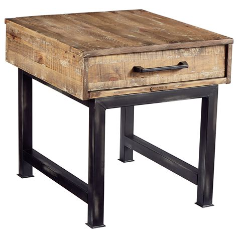 magnolia home end table magnolia home by joanna gaines industrial pier and beam