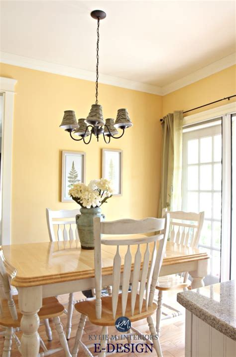 benjamin moore suntan yellow eating nook  country style