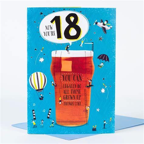 18. Geburtstag Karte