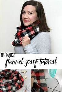 The Easiest Flannel Infinity Scarf Pattern