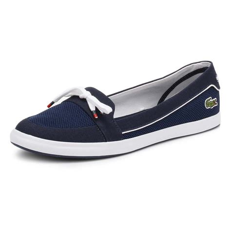 Lacoste Black Boat Shoes by Lacoste Womens Boat Shoes Blue Or Grey Lancelle 117 1