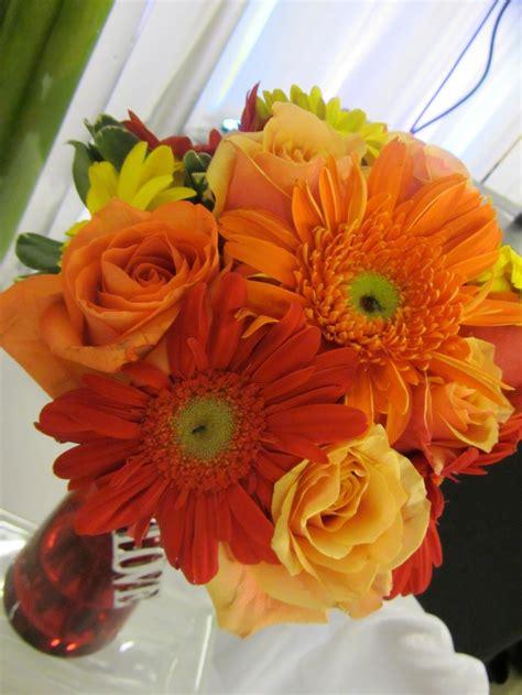 Orange Gerber Daisy Bouquet My Wedding Taste Pinterest