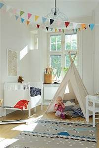 chambre bebe fille avec tipi et peinture blanche With nice idee de terrasse exterieur 7 deco chambre bebe garcon et fille