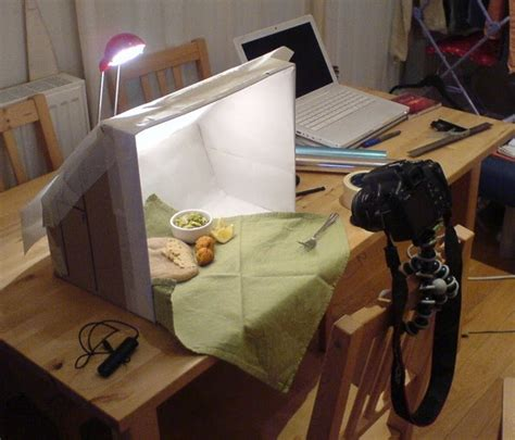 simply cooked light box  staging food photography