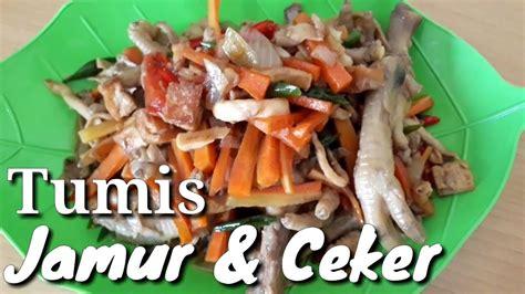 Cabe merah cincangnya membuat tumisan ayam …. Resep tumis jamur + ceker ayam - YouTube