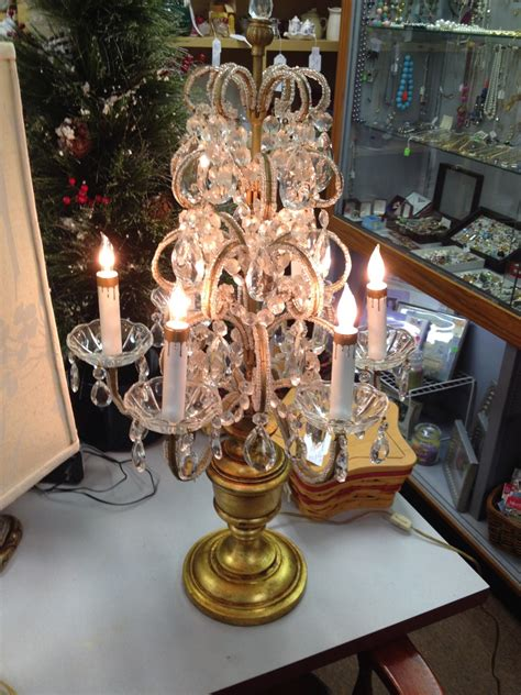 glass bead table l antique unmarked glass bead table chandelier collectors