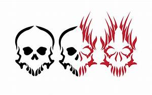 Good and Evil Tribal Skulls by DemonKing-aka-Grim on ...