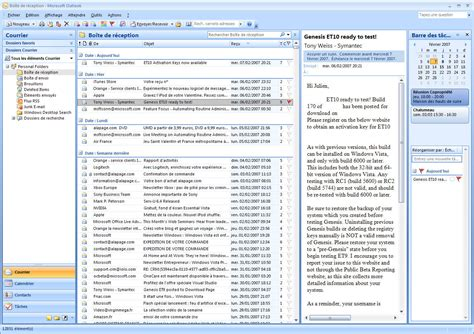Microsoft Office Outlook by Microsoft Office System 2007 Le Dossier